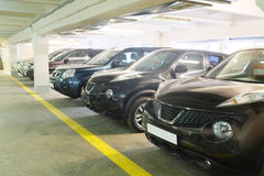 Second-hand cars in dealer's showroom Royalty Free Stock Image