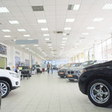 Second-hand cars in dealer's showroom Royalty Free Stock Photo
