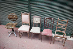 Second hand chairs on sale Stock Image