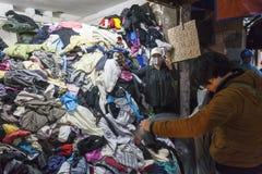 Second hand cloth shop in Vietnam. Stock Photos