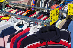 Second hand clothes Stock Images