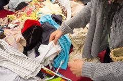 Second hand clothes Royalty Free Stock Image