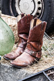 Second hand cowboy boots for fashion or country fashion collector Stock Photo