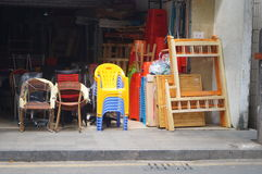 Second-hand goods shops Stock Images