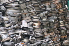 The second hand machinery auto pasts, spare parts. Royalty Free Stock Images
