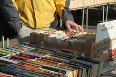 Second hand open air bookshop. Royalty Free Stock Images