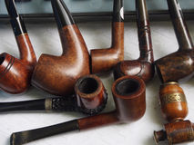 Second hand pipes. Second han pipes for smoking Royalty Free Stock Photos