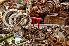 Second hand Pistons and gears Royalty Free Stock Image