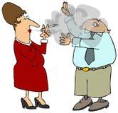 Second Hand Smoke Royalty Free Stock Image