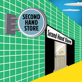 Second hand store Royalty Free Stock Photos