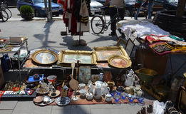 Second hand street shop in Macedonia Stock Photos