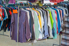 Second handed clothes shop Royalty Free Stock Image