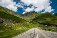 Transfagarasan road on Fagaras mountain , Romania Stock Photo