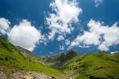 Transfagarasan road on Fagaras mountain , Romania Stock Photos