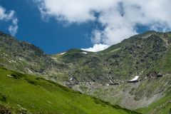 Transfagarasan road on Fagaras mountain , Romania Stock Images