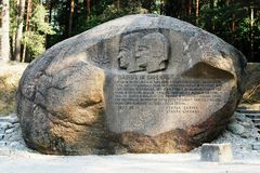 Second largest rock in Anyksciai district of Lithuania Puntukas Stock Image