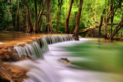 Second level of Erawan Waterfall Royalty Free Stock Photos