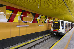 Second line of  Warsaw Subway system Stock Photos