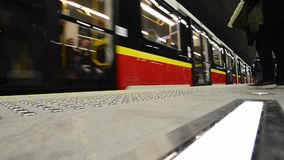 Second line of  Warsaw Subway system stock footage