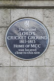 The Second Lords Cricket Ground Royalty Free Stock Photography