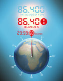 Second more, atomic clock, leap second Royalty Free Stock Image
