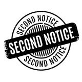 Second Notice rubber stamp Stock Image