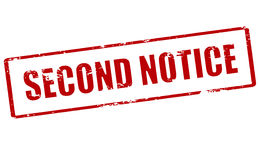Second notice Stock Image