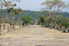Second pillared causeway of Preah Vihear Temple, Cambodia. Preah Vihear,Cambodia-January 10, 2019: Second pillared causeway of Preah Vihear Temple, Cambodia royalty free stock image