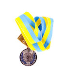 Second place medal. Over white background Royalty Free Stock Photo