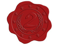 Second Place Red Wax Seal Stock Images