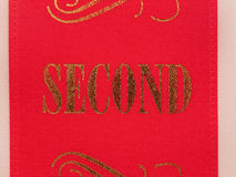 Second place ribbon Royalty Free Stock Photos