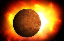 second planet from the Sun is Venus , Solar system Stock Photo