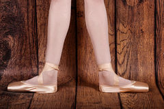 The second position in the ballet. Ballet pas. Stock Photos