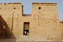 The second pylon in Philae temple Royalty Free Stock Images
