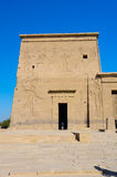 Second Pylon of Philae Temple of Isis, Egypt. Second Pylon of Philae Temple of Isis on Agilkia Island in Lake Nasser, Egypt royalty free stock photography