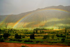 Second rainbow coming Stock Photo
