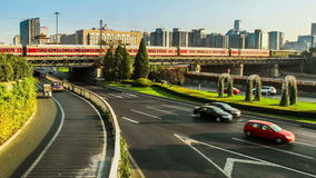 The Second Ring Road traffic in Beijing Royalty Free Stock Image