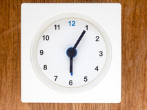 The second series of the sequence of time, 49/96. The second series of the sequence of time on the simple white analog clock , 49/96 Royalty Free Stock Photography