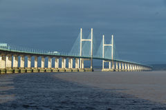 Second Severn Crossing, bridge over Bristol Channel between Engl Stock Images