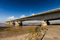 Second Severn Crossing, bridge over Bristol Channel between Engl Royalty Free Stock Photography