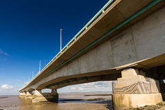 Second Severn Crossing, bridge over Bristol Channel between Engl Royalty Free Stock Images