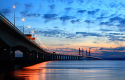 Second Severn Crossing at Dusk Stock Photo