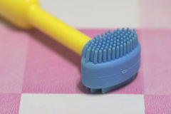 Second step of toothbrush Stock Images