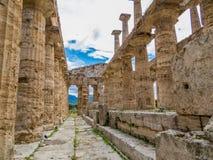 Second Temple of Hera, Paestum Stock Photo