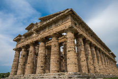 Second temple of Hera at Paestum archaeological site, Italy Stock Photo