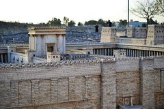 Second Temple. Model of the ancient Jerusalem. Israel Museum in Jerusalem royalty free stock photo