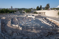 Second Temple Model of Jerusalem Stock Image
