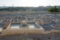 Second Temple Model of Jerusalem Royalty Free Stock Photo
