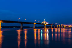 He second thai - lao friendship bridge across the mekong river in thailand Royalty Free Stock Photos