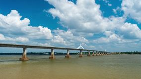 The Second Thai–Lao Friendship Bridge in Mukdahan, Thailand. Time lapse of The Second Thai–Lao Friendship Bridge in Mukdahan, Thailand stock video